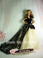 Free Shipping,Wedding Dress  Party Clothes Outfit Gown for Barbie Doll