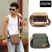 Eshow canvas messenger bags for men ipad shoulder bag canvas shoulder bag for men free shipping BFK010501