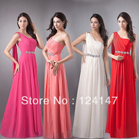 AQ Fashion 2013 autumn One shoulder formal dress with crystal long Evening Dresses slim DRESS