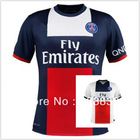 Ibrahimovic Cavani Lucas Silva Pastore TOP Thai Quality 13 14 PSG Soccer Jersey PSG Home Away Jersey Paris Saint German Jersey(China (Mainland))