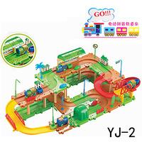 Birds III Thomas Electric Train Track  DIY Classic Toys Include 69PCS Blocks Two Trains, Children's Interactive Educational Boy