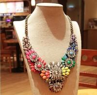 Wholesale 2014 present Luxury Chain chunky shourouk necklace Choker fashion necklaces & pendants  women gift #00487