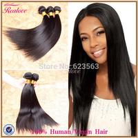 """Peruvian Virgin Hair Straight 3/4pc 8""""-30"""" Human Hair Weaves Peruvian Straight Hair Extension For Sale Realove Peruvian Hair"""