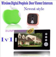 "Wireless 7"" LCD Digital Security Door Viewer Peephole/Spyhole Camera/Video Bell System/video door phone support take photos"