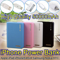 New portable charger 50000mAh portable power bank 4 color External battery powerbank wholesale price Free shipping