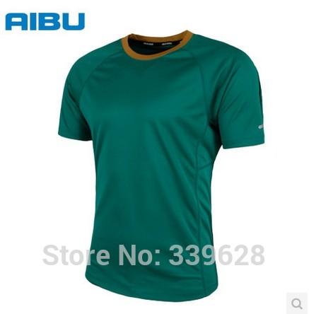 Freeing man&female AIbU man&womanshort-sleeve sports t-shirts Quick dry sleeved round neck Running clothing dry fit men running()