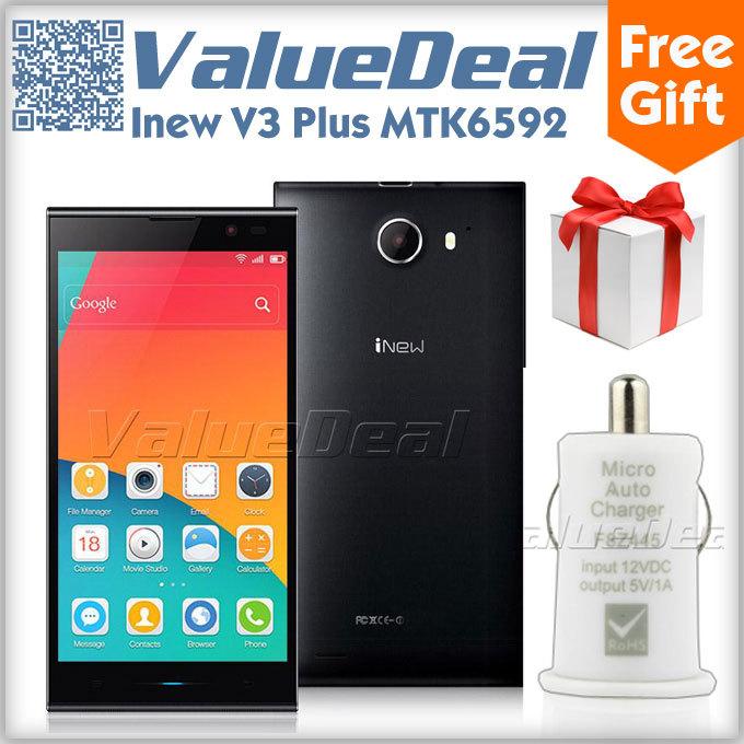 "Original iNew V3 Plus MTK6592 Octa Core Mobile Phone 5.0"" IPS Screen Android 4.4 2GB+16GB 13MP Camera GPS OTG 3G Smarphone(China (Mainland))"