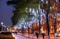 3PCS/LOT 50CM Romantic Meteor Shower Rain Tubes LED Christmas Wedding Garden Decoration String Light 100-240V/EU B16 TK1325