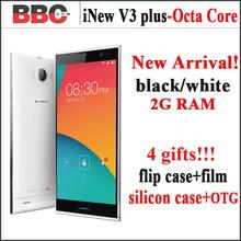 Original iNew V3 black White 5 inch NFC OTG Android 4.4.2 phone Quad Core 3G GPS phone 16GB   ROM 13MP Camera  gift case Russian(China (Mainland))