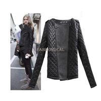 2014 New hot Women Winter Coat Retro Epaulette mosaic fashion o-neck slim cotton-padded woolen short jacket 19008