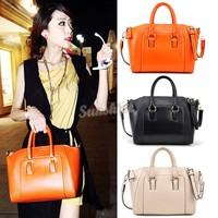 HOT SALING!2014 New Women Handbag Fashion Brief Pattern Shoulder Messenger Bag Leather Bag Free Shipping SV001545 b010