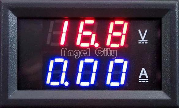 Hot Sale Red Blue LED DC 0-100V 10A Dual Display Voltage Meter Digital LED Voltmeter Ammeter Panel Amp Volt Gauge 25(China (Mainland))