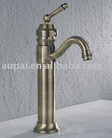 Free Shipping - Single Handle Solid Brass Basin Faucet Antique Bronze Mixer Faucet (F-5024)