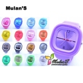Superdeal :Mulan'S Top Selling Women Kids Candy Jelly watch Silicone Watch ,FREE SHIPPING