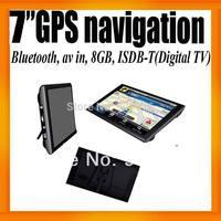 """Brazil Digital TV 7"""" GPS Navigator+Bluetooth+AV IN +8GB+ISDB-T+FMT+Ebook Reader+ Voice Guider"""