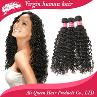 Queen hair products:brazilian curly virgin hair extensions,brazilian deep wave curly hair,mixed length 3 pcs lot free shipping
