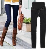 2014 New Fashion Jeans for Pregnant Ladies Women Skinny Maternity Jeans Pants Denim Trousers Blue/ Black Size 19812