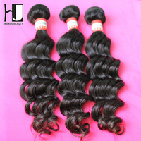 H&J Hair Peruvian Virgin Hair wavy Human Hair Weave Mix 3pcs/lot Free Shipping By DHL