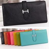 ,Fashion Selling  Women's & Men's Genuine Leathe Long Wallets Ultrathin multi Card Holder Purse Lady Clutch JJ621