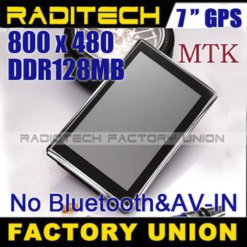DHL shipping 4pcs/lot !7 inch Gps navigation cheapest navigator DDR 128 MB + FM GPS700306