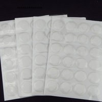 "1"" 5000pcs clear 3D self adhesive circle epoxy stickers bubble dots bottle caps kit free shipping"