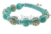 Free Shipping Braid Shamballa Bracelets With Bling Rhinsestone Beads Adjustable Try order