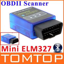 New ELM327 V1.5 Mini Bluetooth ELM 327 OBDII OBD-II OBD2 Protocols Auto Diagnostic Tool free shipping Wholesale(China (Mainland))