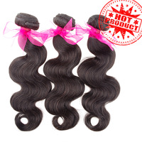 Aliexpress Best Selling 6A Brazilian virgin hair extensions body wave unprocessed human hair weave natural color 1b# TD HAIR