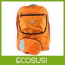 Ecosusi Orange Foldable School Backpacks Lightweight  Backpack Trolley Shoulder Pack Free Shipping