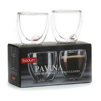 (Original) 2Pcs/lot Bodum Pavina Double Wall shot Glass Coffee Cup,Espresso Mug,teacup , Thermo Glass Cups 80ml,2.8oz