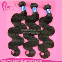 Ms lula hair 6a Brazilian virgin hair body wave 3 bundles human hair weft  free shipping cheap unprocessed hair bundles