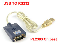 USB 2.0 to  RS232 DB9 COM Serial Port Device Converter Adapter Cable, PL2303 double Chip wholesale