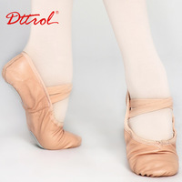 Dttrol Free shipping  genuine leather Split-Sole Leather Ballet Shoes (D004703)