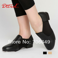 Dttrol Adult pig leather upper and rubber outsole slip on elastic Tap shoes  (D004933)