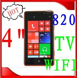 (Free shipping China Post)2013 NEW 820 TV WIFI 4.0 Inch Touch Screen cell Phone Dual SIM Card Polish Russian language 5 colors(China (Mainland))