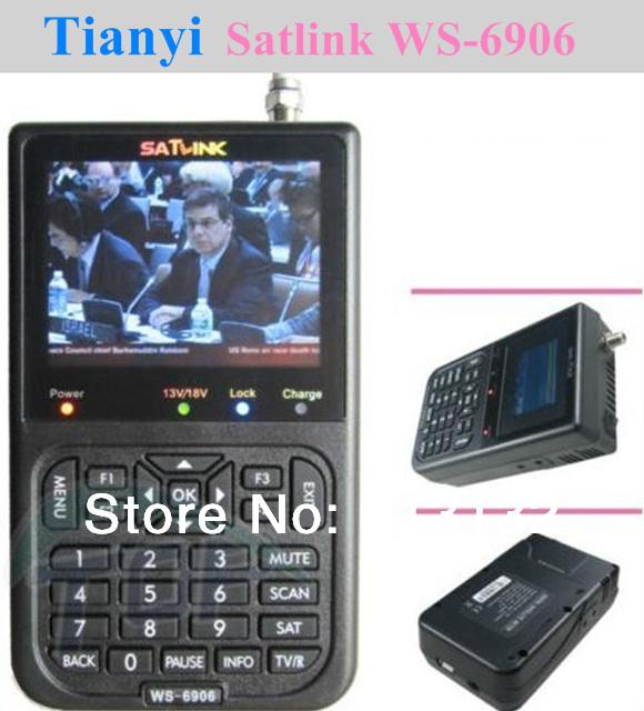 Free shipping Satlink WS-6906 DVB-S FTA Digital Satellite Finder Meter TV Signal Receiver For setting,WS6906(China (Mainland))