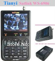 Free shipping Satlink WS-6906 DVB-S FTA Digital Satellite Finder Meter TV Signal Receiver For setting,WS6906