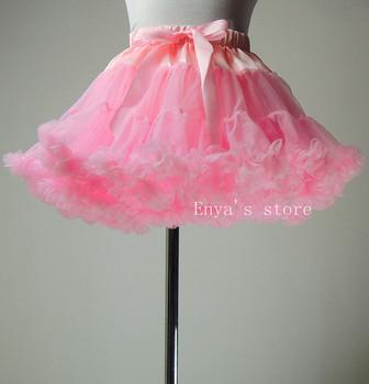 Fashion pink baby girls fluffy petti coat  princess skirts Christmas wedding party dance wear pettiskirts and tutu Free shipping