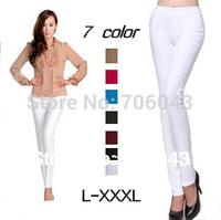 2014 Hot Casual Pencil Pants /High Waist Pantyhose  Leggings Women Wide Leg Trousers 7Color L XL XXL XXXL Slimming Leggings