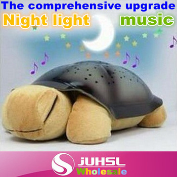 1pcs,Free shipping/dropshipping with retail box Turtle Night Lights for kids,Music Star Lamp with 4 color,nice toy