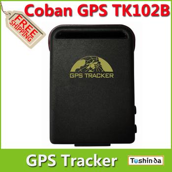 Promotion----Free Shipping Factory Sale Stable COBAN GPS Tracker TK102B Vehicle / Car GPS tracker TK102 Quadbands Dropshipping
