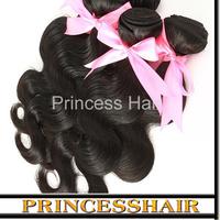 Free Shipping 6a 1pcs/lot Natural Black Unprocessed Virgin Hair Weft Brazilian Virgin Hair Body Wave