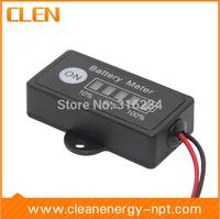 Wholesale 10pcs/lot 12V Lead-Acid Battery Fuel Gauge DC Battery Tester Meter Battery Electronic Multimeter Free Shipping