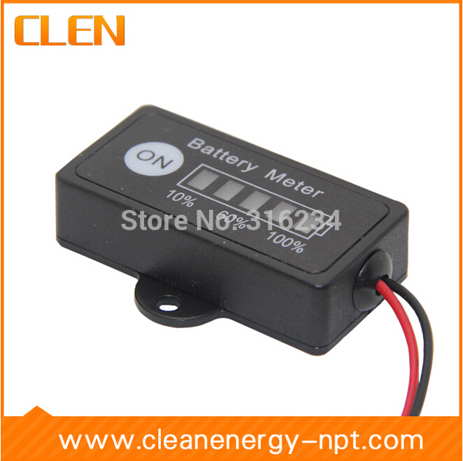 Wholesale 10pcs/lot 12V Lead-Acid Battery Fuel Gauge DC Battery Tester Meter Battery Electronic Multimeter Free Shipping(China (Mainland))