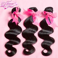 "2pcs/lot,Q love hair products,brazilian virgin hair 10""-34"" body wave human hair extension Free shipping"
