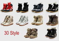 Free shipping Isabel Marant Height Increasing Sneakers Shoes  Boots  Size(35~41) 10 colours