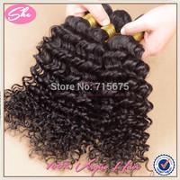 She hair 6A brazilian virgin hair 3pcs free shipping,cheap brazilian deep wave no tangle,soft human hair extension can be dyed