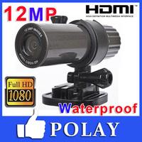 12MP Lens!! FULL HD 1080P Sport Camera Action Waterproof 20M Video Recorder HDMI TV OUT Helmet Bike Diving DV DVR Free Shipping