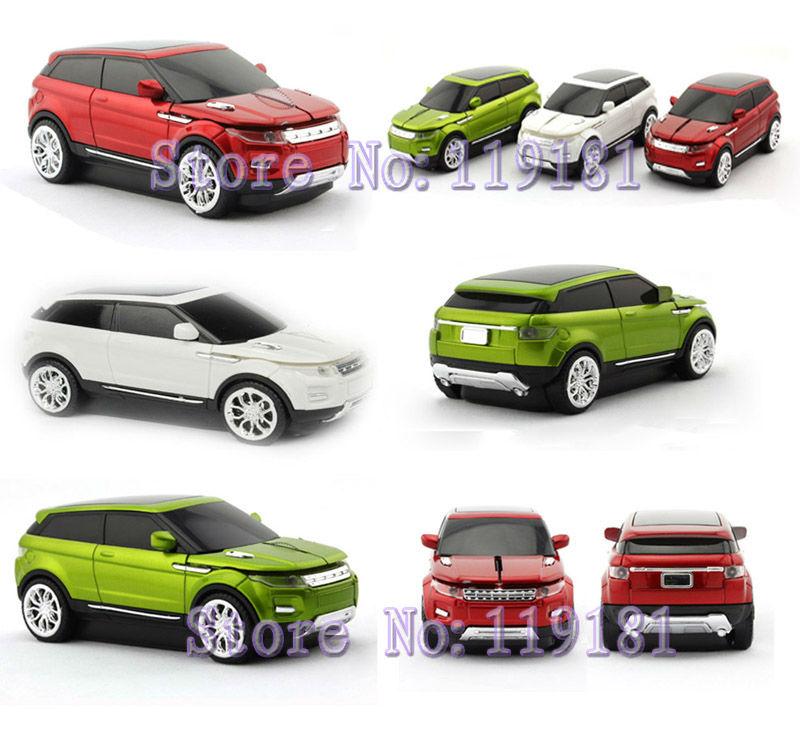 Xmas Gift 3D 1600dpi USB Optical 2.4G wireless car mouse car Range Rover Evoque shape Cordless Mice for PC/Laptop Desktop Mac(China (Mainland))
