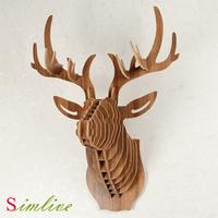 home decoration,Deer Head,wall hanging,wall art,DIY wooden craft,wall decor,wall stickers home decor,wood home&garden,gift craft